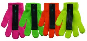 Kinder Neonfarben Thermo Magic Fluoreszierend Winter Warm Stretch-handschuhe