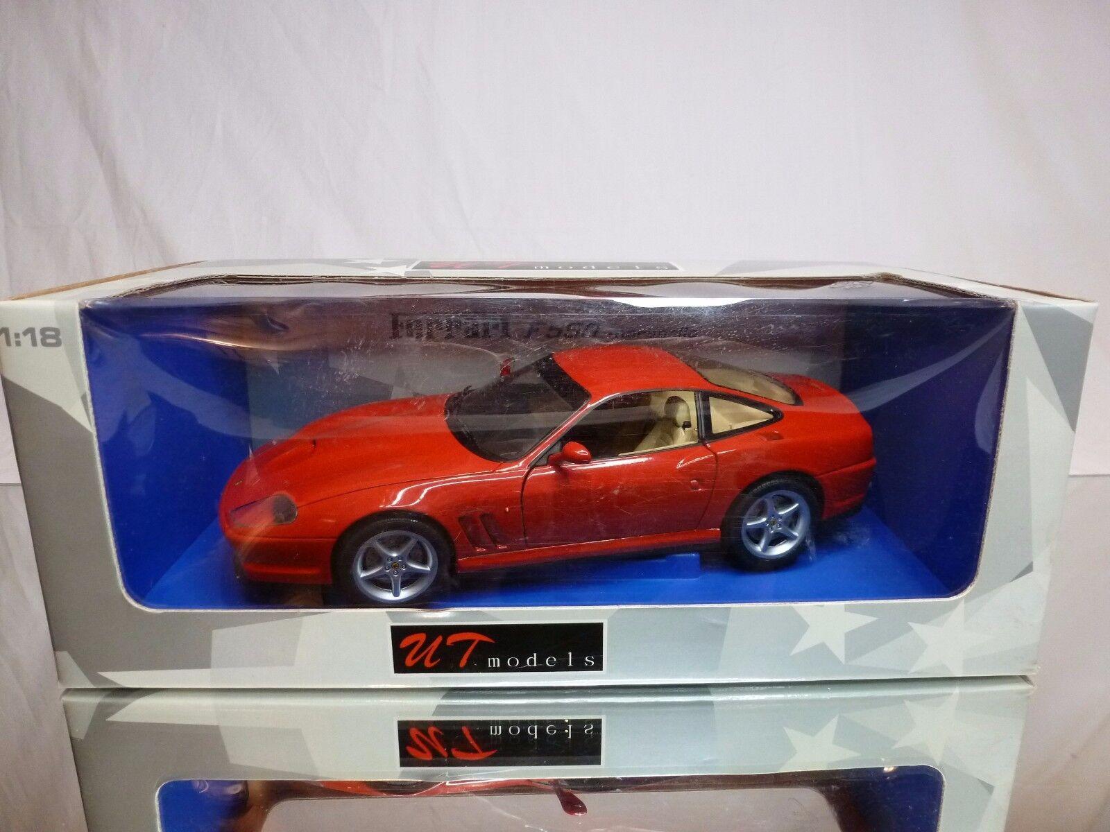 UT MODELS 21884 FERRARI F550 MARANELLO - RED 1:18 - EXCELLENT CONDITION IN BOX