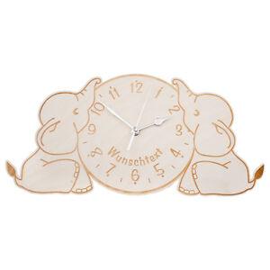Das Bild Wird Geladen Kinderuhr Elefanten Uhr Kinderzimmer Dekoration  Holz Clock