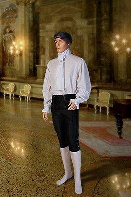 Men's Renaissance Medieval French Baron Costume Shirt Natural Cotton, Handmade