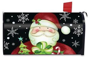 image is loading here comes santa christmas large mailbox cover presents