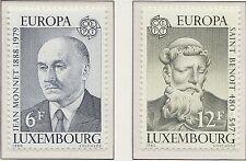 Europa CEPT 1980 Beroemde personen Luxemburg 1009-1010 - Postfris MNH