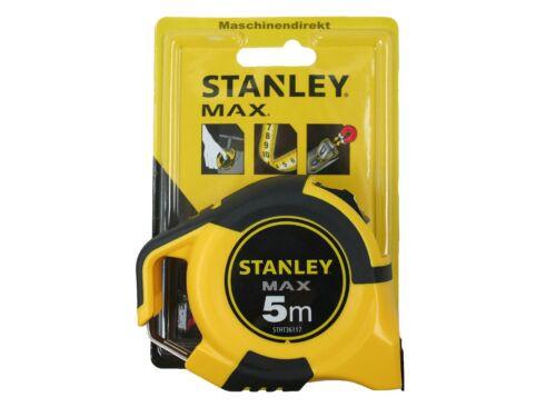 Stanley Mètre Max avec crochet magnétique STHT 0-36117 Décamètre à ruban 5 m