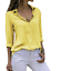 Women-039-s-Chiffon-Long-Sleeve-V-Neck-Blouses-Tops-Button-Down-Business-Blouse thumbnail 14
