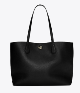 770ee6ed97cfb Image is loading Tory-Burch-Black-Tote-Shopping-Bag-Style-22159775-