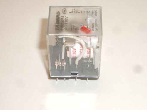 MPJ 33972RL TAIMING HH52P-L DPDT 5A 110VAC COIL RELAY w// LED INDICATOR