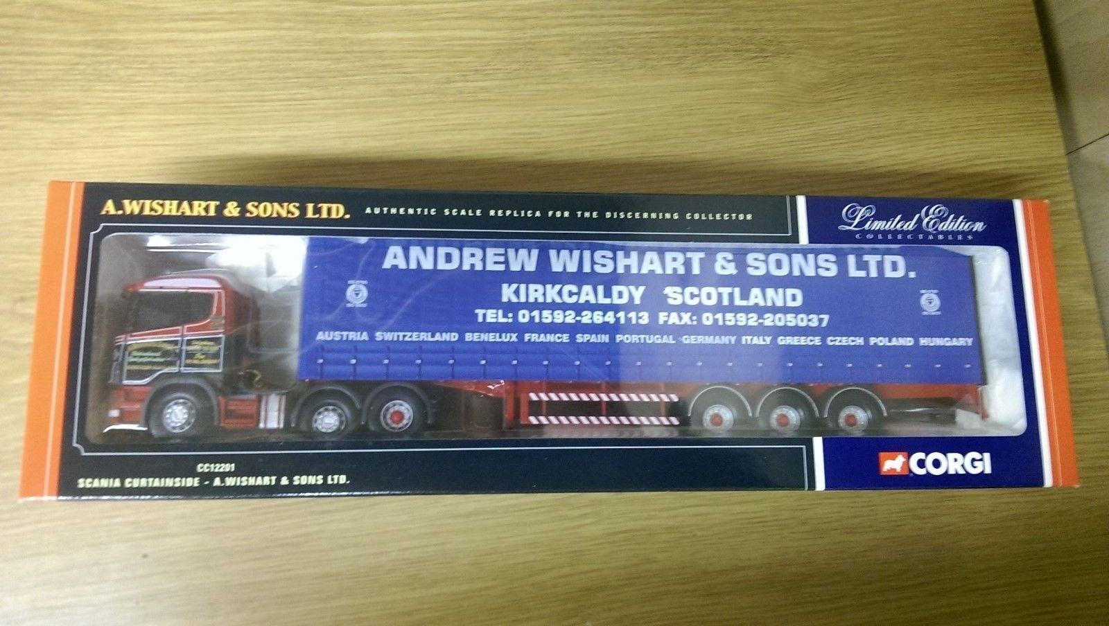 CORGI CC12201 Scania curtainside A. Wishart & Sons Ltd Edition No 0002 de 2700