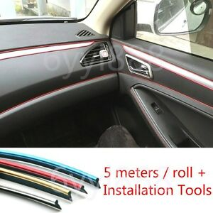 blue 5m diy car edge gap line interior decoration moulding trim strip line. Black Bedroom Furniture Sets. Home Design Ideas