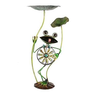 Metal-Frog-Windmill-amp-Lily-Pads-Garden-Ornament-by-Country-Living-Juliana
