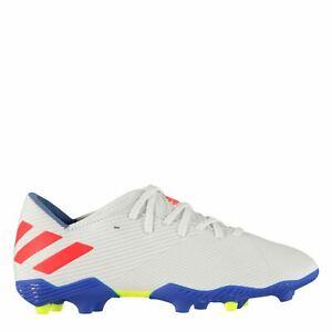 Adidas-Enfants-Garcons-nemeziz-Messi-19-3-Childs-FG-Chaussures-De-Football-Ferme-Sol-Lacets
