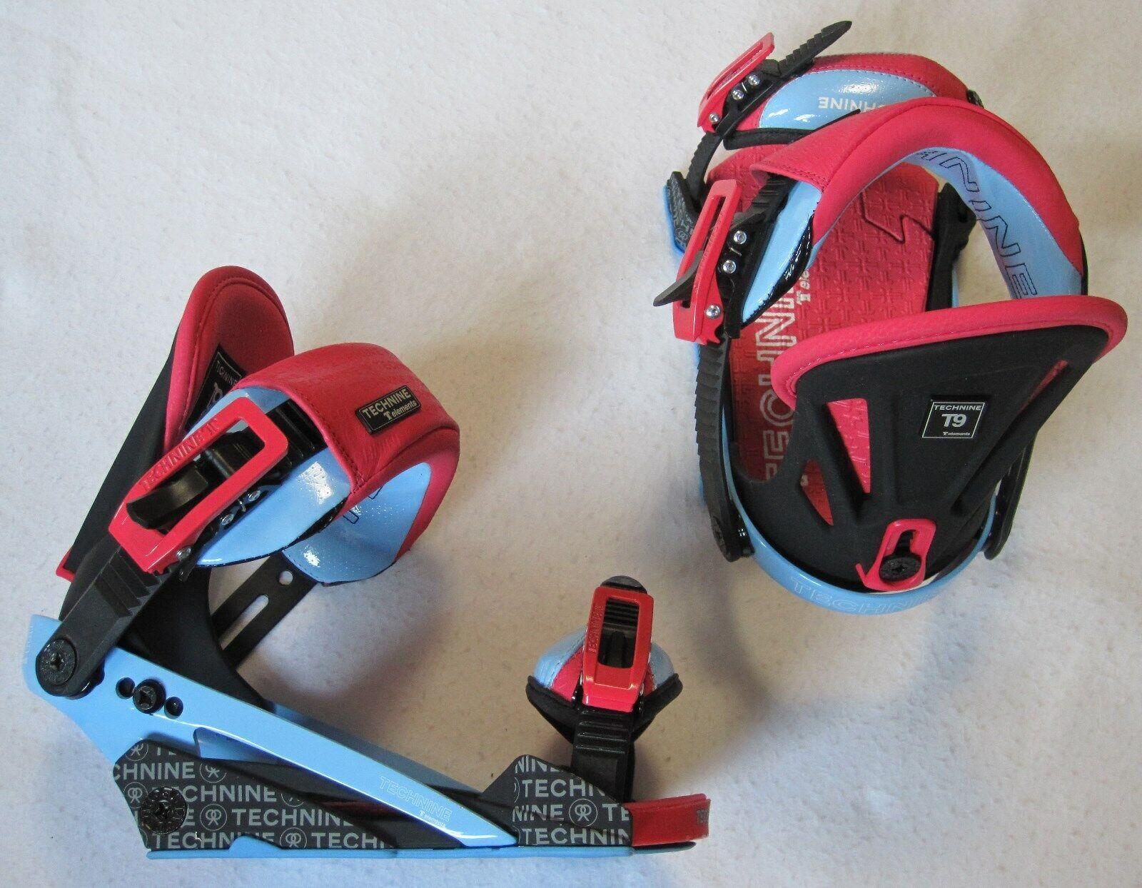NEW TECHNINE T9  ELEMENTS  damen SNOWBOARD BINDINGS - MEDIUM - rot schwarz Blau