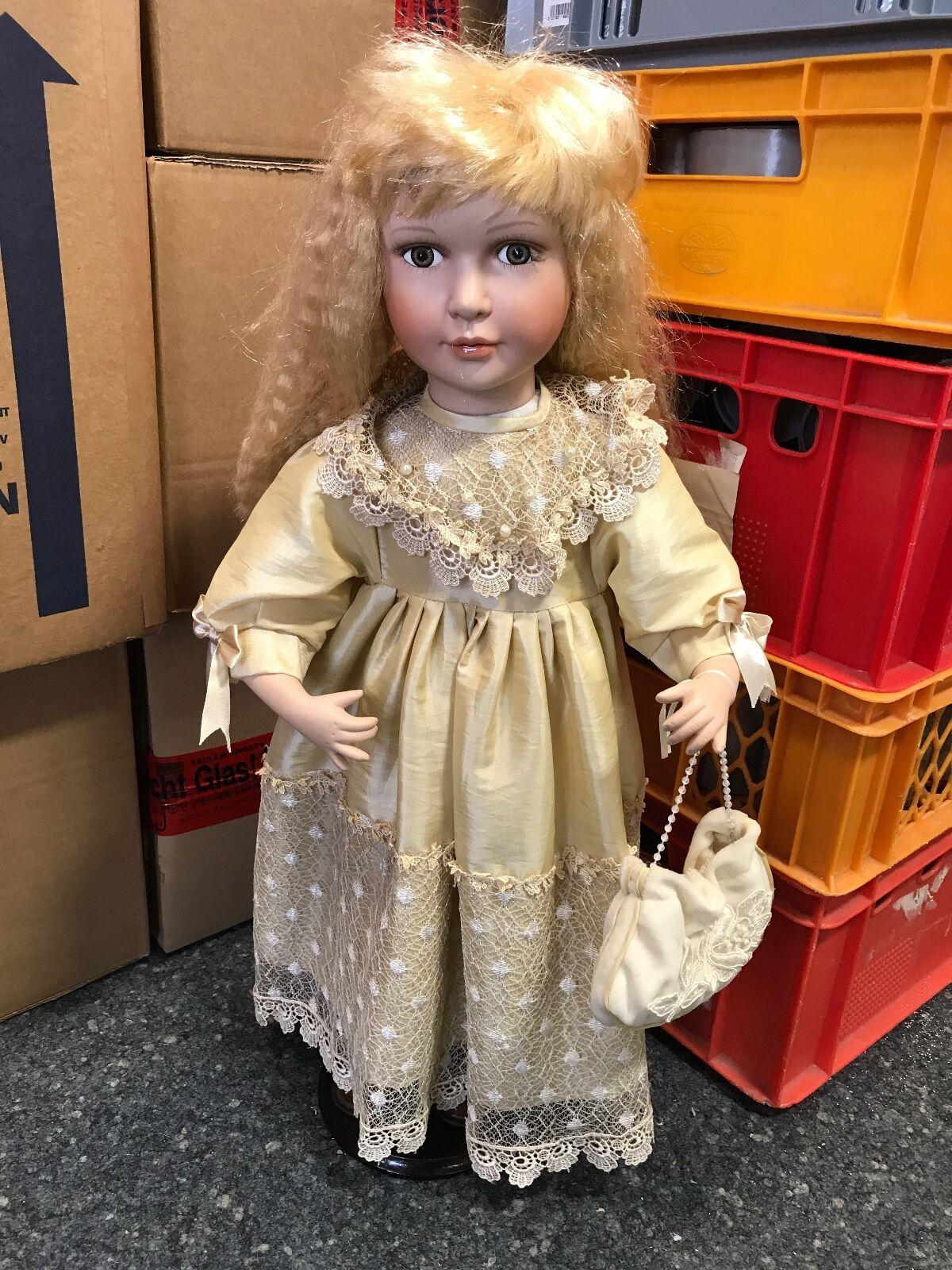 Künstlerpuppe Porzellan Puppe 65 cm. Top Zustand  | Eine Große Vielfalt An Modelle 2019 Neue