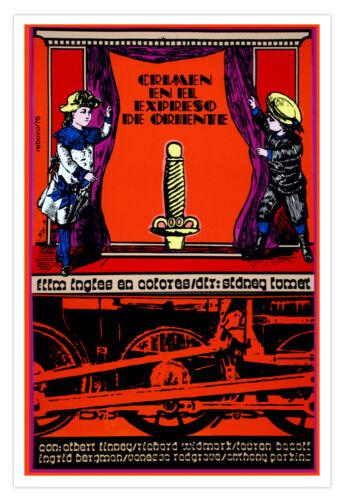 "Graphic Design movie Poster 4 film/""Crime ORIENT Express/""British train.Mystery."