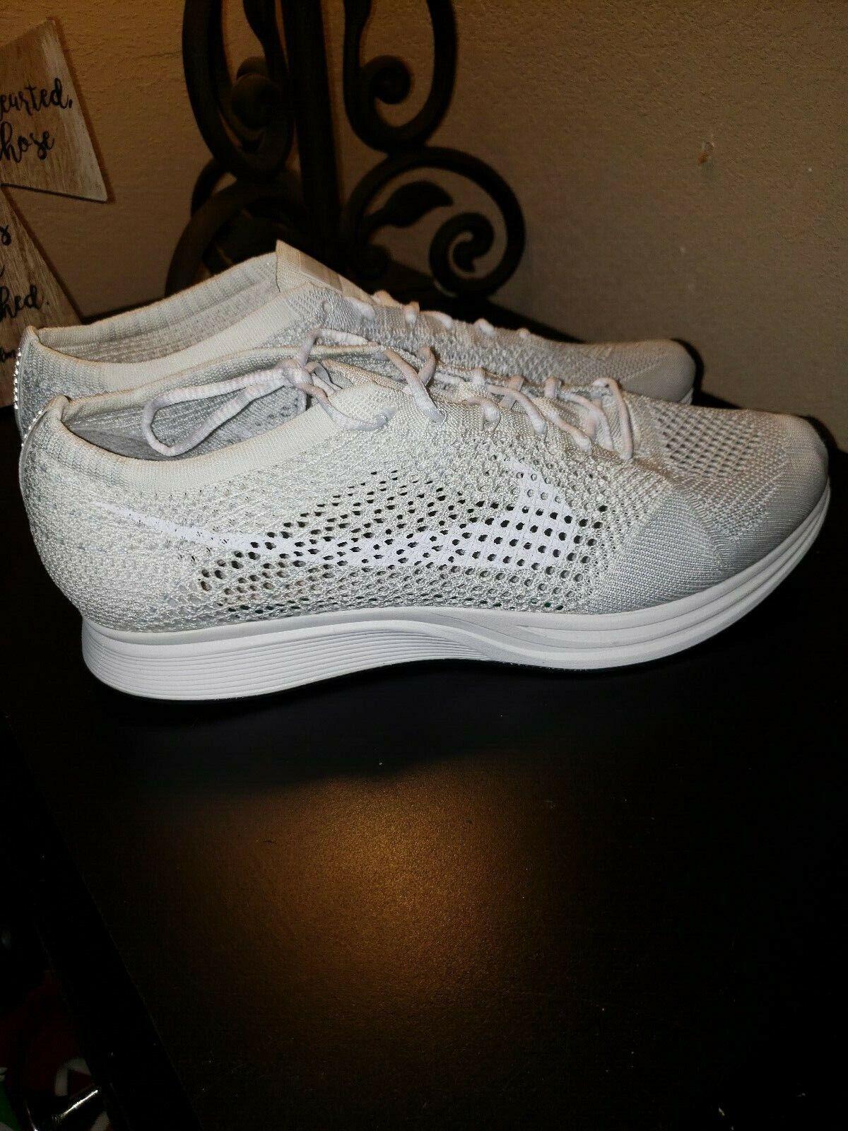 Nike Flyknit Racer  Goddes  Tripple White (526628-100) NEW  RARE  SZ 12.5