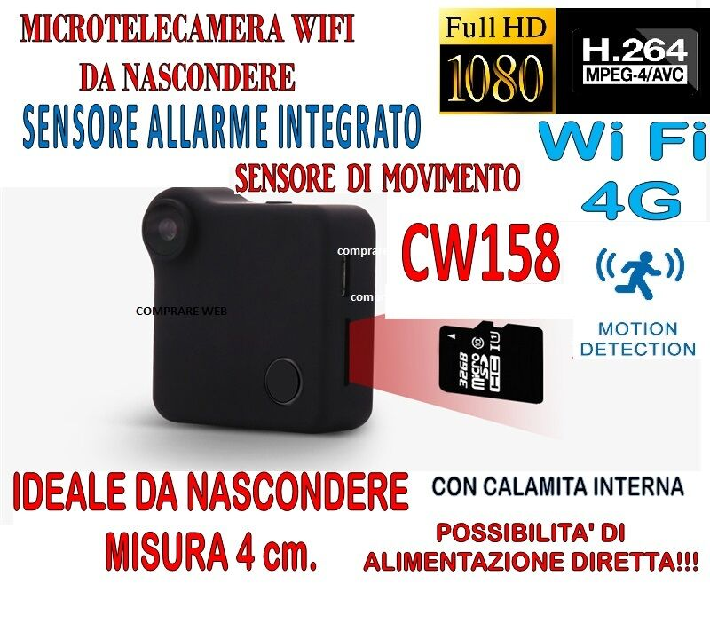 Micro Cámara C1 + SD 32GB Mini Dv Wifi 4g Sensor Alarma Detección de Movimiento