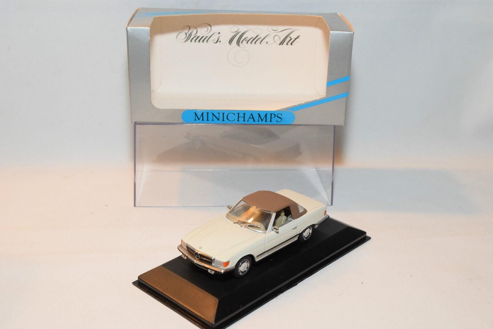 . MINICHAMPS MERCEDES BENZ 350SL 350 SL CABRIOLET SOFT TOP CLOSED MINT BOXED