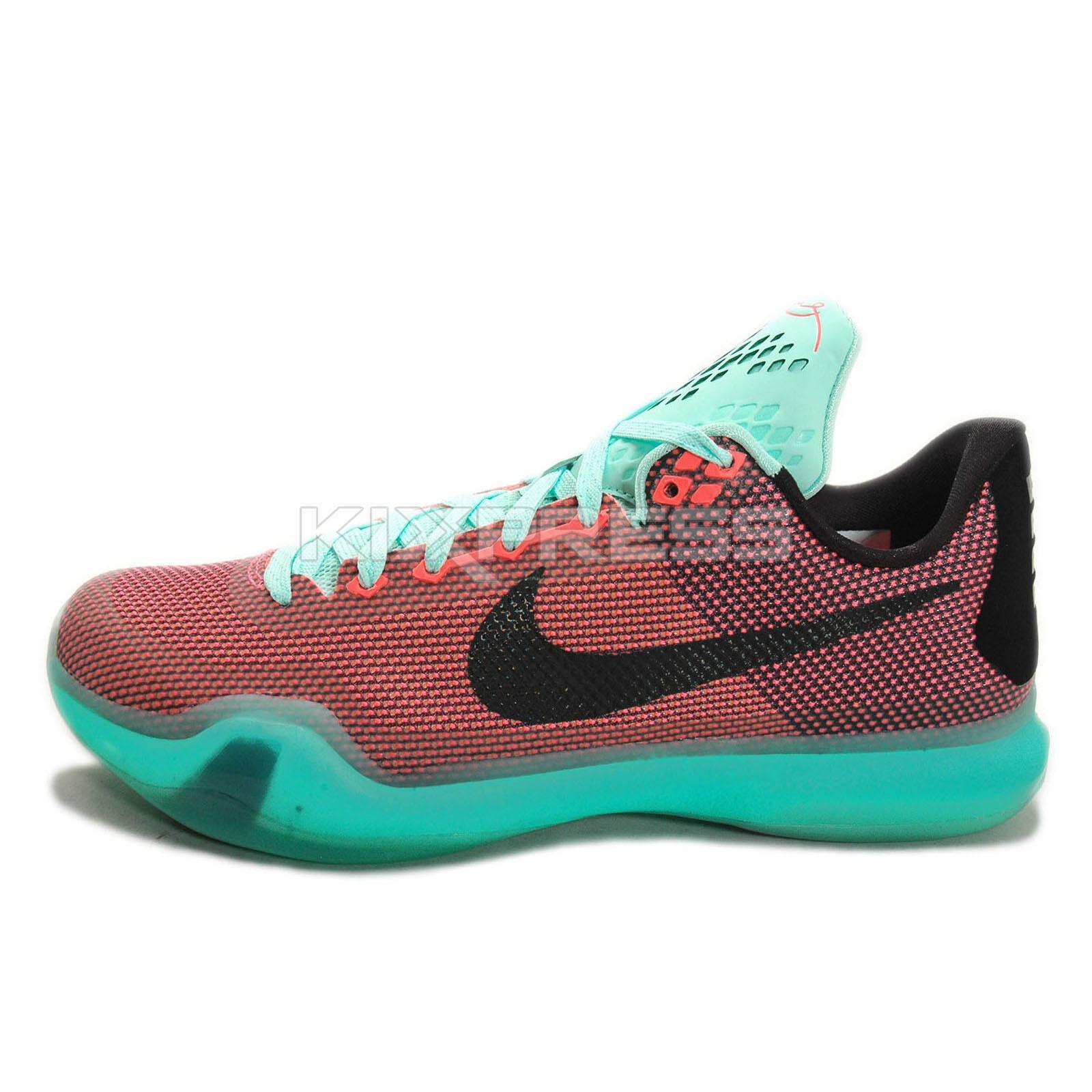 Nike Kobe X EP [745334-808] Basketball Easter Hot Lava/Artesian Teal HOT LAVA/BLK-SNST GLW-ARTSN TL...