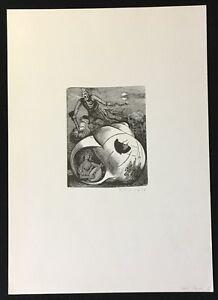 Karl Rössing, la fiaba, taglio di legno, 1948, a mano firmata e datata