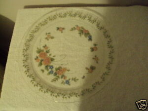 """Arcoroc hand painted platter serving dish France 13"""""""