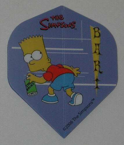 1 Set 3 flights Simpsons  Bart Homer Duff Standard Dart Flights FREE SHIP #6
