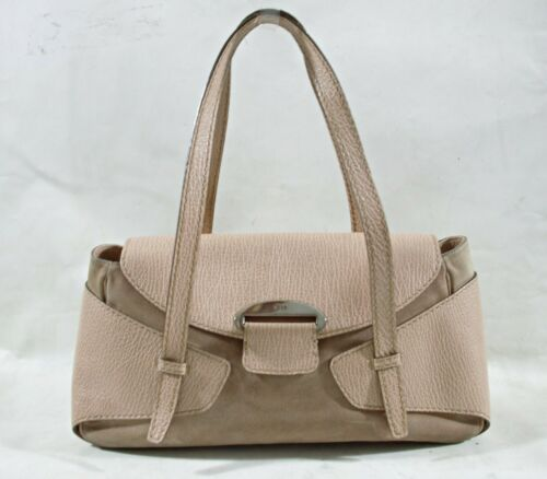 TODS  Italian Brown Leather Suede Shoulder Bag