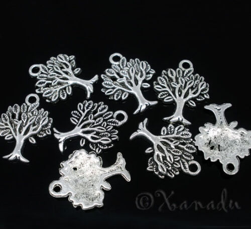 10PCs Tree Of Life Wholesale Antiqued Silver Plated Pendant Charms C5574