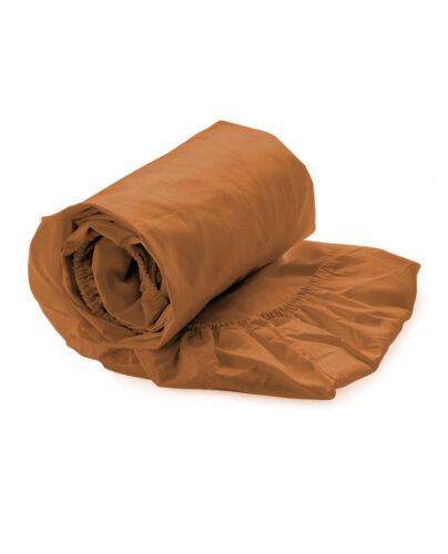 Hnl Spannbettlaken Perkal 100/% Baumwolle in 8 Farben 90x200 cm