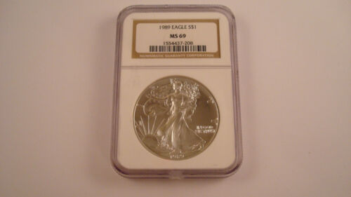 #LP05 1989 American Silver Eagle NGC MS69