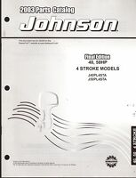 2003 Johnson Outboard Motor 40 & 50 Hp 4 Stroke Parts Manual (908)