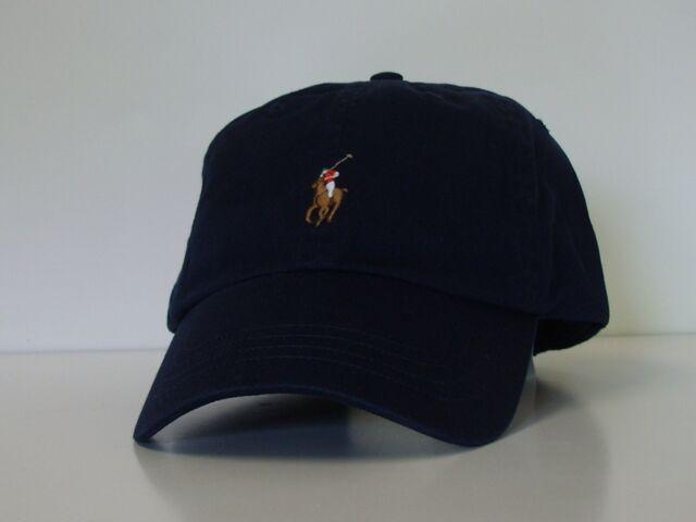 60932ec6c Polo Ralph Lauren Bear Logo Adjustable Strap Baseball Cap Hat Navy ...