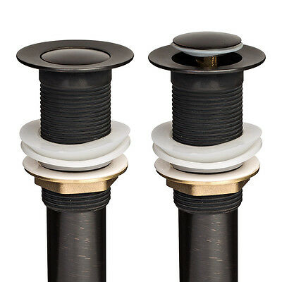 "2x NEW Oil Rubbed Bronze 1 1/2"" Pop-Up Drain without Overflow Vessel Sink Faucet"