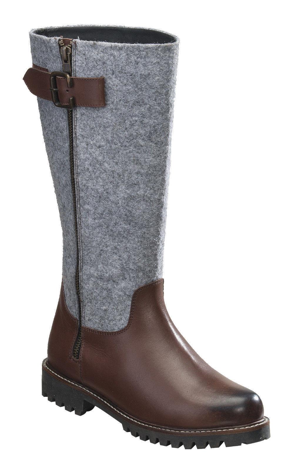 kvinnor Dress stövlar Genuine läder filzschaft, vinterstövlar, röducerade - 20%