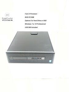 HP-EliteDesk-800-G1-SFF-Core-i3-4130-3-4GHz-8GB-SSD-HDD-Windows-7-10-Pro-PC-Wifi