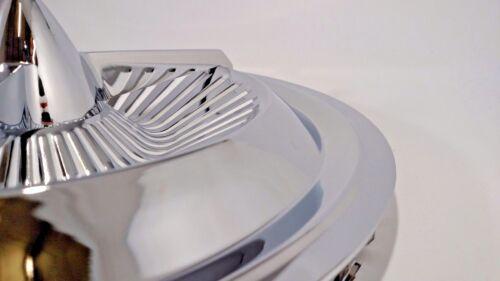 """New Set of 4 14/"""" Polara 3 Bar Chrome Bullet Spinner Jet Hubcaps Wheel Covers"""