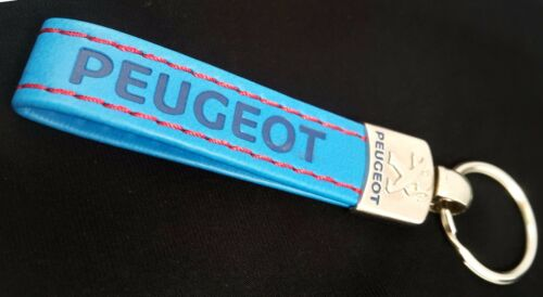 PEUGEOT Keyring Eco Leather Key Chain Keyfob KeyHolder 206 307 CC 308 SW 407 408