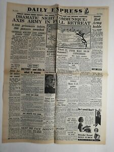 N215-La-Une-Du-Journal-Daily-Express-5-novembre-1942-dramatic-night