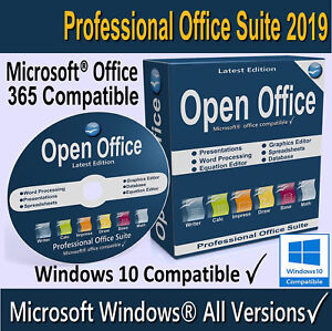 OPEN OFFICE 2019 Full Version Home, Student & Business For Microsoft Windows