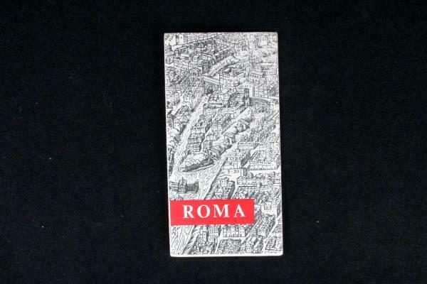 Vintage 1960s Roma Italia Rome Italy City Map Brochure Store Offices Theaters