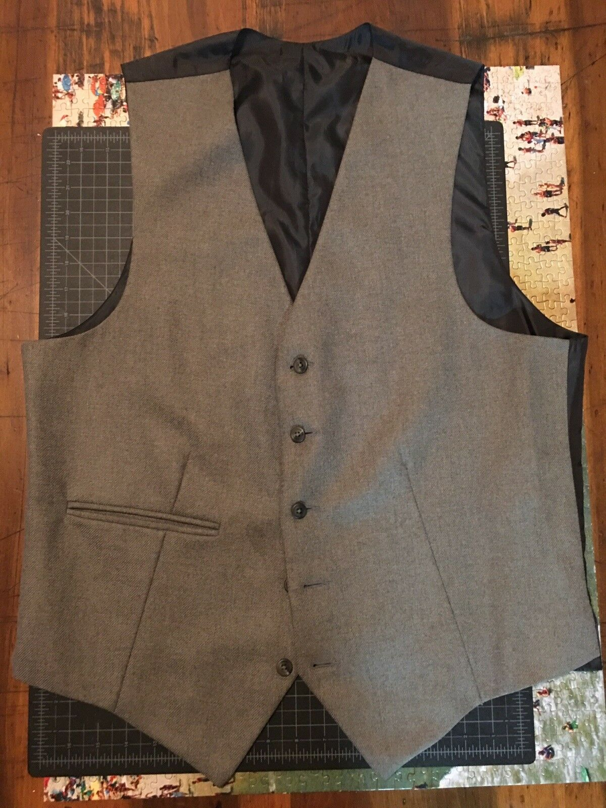 NWT Social Suicide Hand Made Dress Vest Size 44 100% New Wool