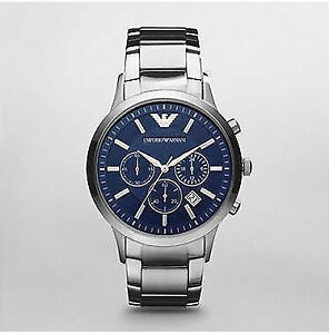 ffd4806a9d154 Emporio Armani AR2448 Classic Stainless Steel Watch for Men - Navy ...
