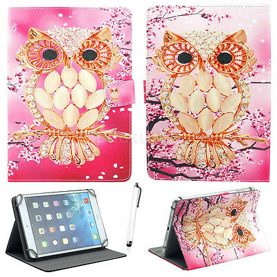 """US For Universal Android Tablet PC 7"""" 8"""" 10"""" 10.1"""" Adjustable Leather Case Cover"""