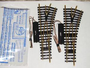 JOUEF-4184-2-AIGUILLAGES-ELECTRIQUE-A-DROITE-RAILS-EN-LAITON-EN-SACHET-HO