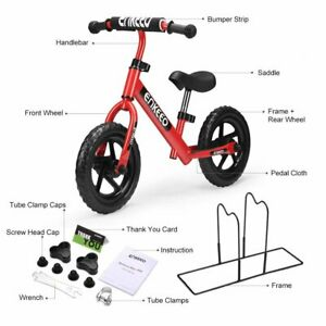 ENKEEO 12 Sport Balance Bike No Pedal Walking Bicycle Red