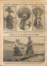 Fashion Women Cameroon Mode Femme Cameroun Africa/Peaux de Rats Poilus WWI 1916