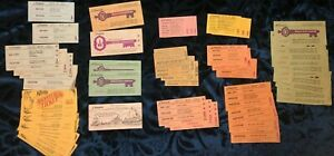 VINTAGE-DISNEYLAND-RIDE-TICKETS-COUPONS-LOT-OF-41-DISNEY-TICKETS-9-KNOTTS