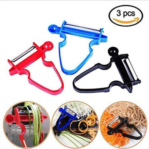 3pcs//set Magic Schäler Set Trio Peeler Slicer Shredder Julienne Obst Cutter Tool