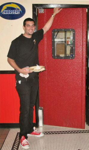 """Red Restaurant Kitchen Swing Door Swinging Doors NEW. Traffic Door 36/""""x 80/"""""""