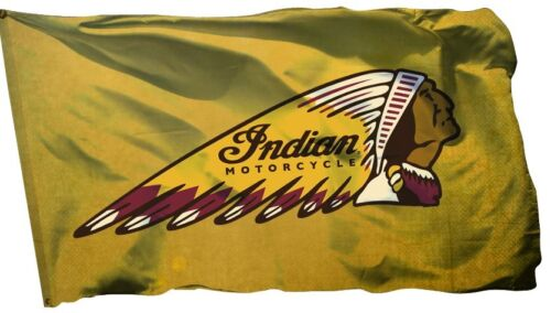 Indian Motorcycle Flag Banner 3x5 ft Car Wall Garage Yellow