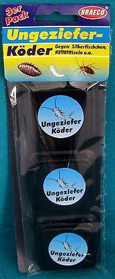 3x Ungeziefer-Köder-Dose Silberfischchen Kellerasseln Köderdosen Asseln