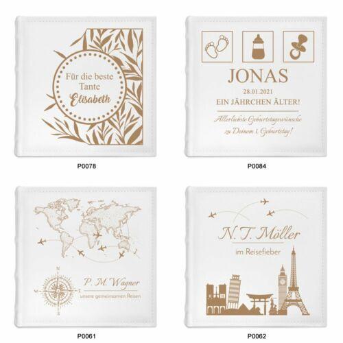 Einsteckalbum Album mit Gravur Hochzeit Hochzeitstag Geschenk für Paare 10x15